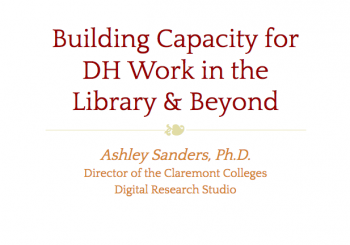 Building DH Capacity Workshop